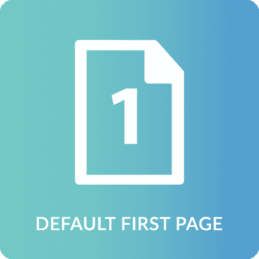 Default First Page