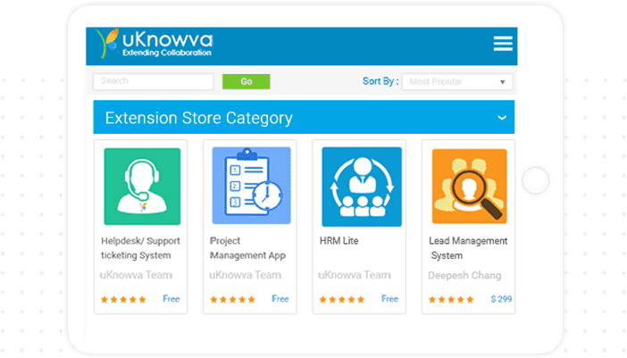 uKnowva Extension Store